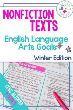 Nonfiction texts to target your entire language caseload, winter edition!