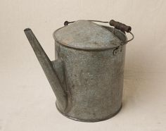 Unique Vintage Large Primitive Galvanized Watering Can