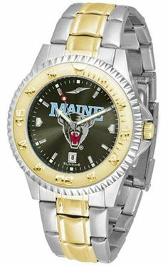 Maine Black Bears- University Of Competitor Anochrome - Two-tone Band - Men's - Men's College Watches by Sports Memorabilia. $95.43. Makes a Great Gift!. Maine Black Bears- University Of Competitor Anochrome - Two-tone Band - Men's
