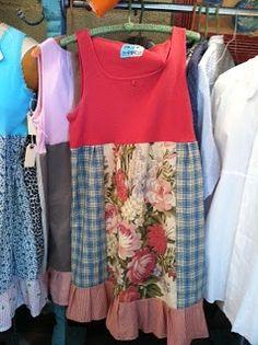 Vintage fabric dresses