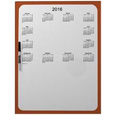 2016 Sienna Calendar by Janz Dry Erase Board