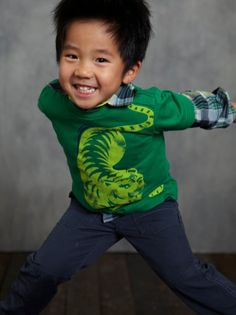 A bold boy's tee! Dress your little tiger in a tee that he's sure to love. via teacollection.com