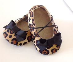 Baby Girl Shoes. Infant Shoes. Leopard Baby Shoes. by joojoocraft, £18.99