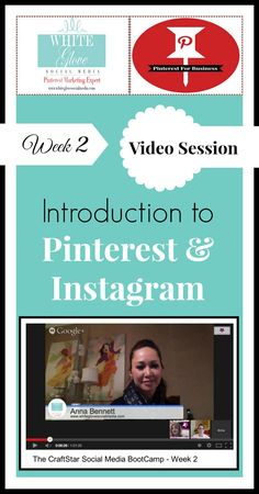 Video Tutorial: Building Your Craft Business With Pinterest & Instagram In 2014 » White Glove Social Media Marketing #GoodMarketingTips