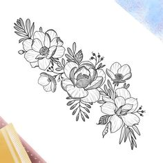 ➕Botanical ladies➕ this is one of my big flashes, I'm eager to work with more larger pieces full of meaning like always! Good times are… Cute Tattoos, Body Art Tattoos, Small Tattoos, Sleeve Tattoos, Floral Tattoo Design, Flower Tattoo Designs, Flower Tattoos, Flower Band, Flower Sketches