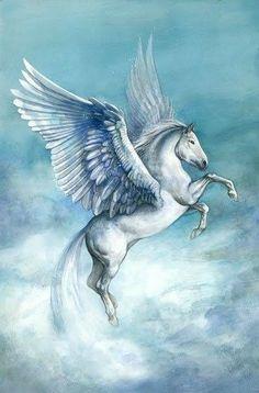 Unicorn Fantasy, Fantasy Mermaids, Unicorn Art, Pegasus, Fantasy Creatures, Mythical Creatures, Fantasy Dwarf, Unicorn Pictures, Winged Horse