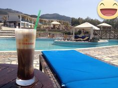 Enjoing coffe in Lassion Golden Bay Crete, World, The World, Peace, Earth