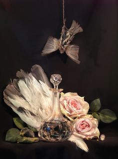 Fiona Pardington: Still Life with Wakatipu Wai in a Crystal Carafe, a Sparrow and an Albatross Tail, Ripiro 2014 Artistic Photography, Life Photography, Modern Photography, Still Life Drawing, Still Life Photographers, Draw On Photos, Vanitas, Time Art, Art Gallery