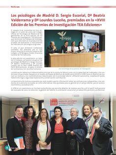Ganadores en 2013 del Premio TEA por el APM,  Análisis del Perfil Motivacional.