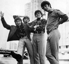 Left to right. Davy Jones, Peter Tork, Micky Dolenz, and Mike Nesmith. The Monkees Davy Jones Monkees, The Monkees, My Only Love, First Love, Axs Tv, Classic Rock Artists, Michael Nesmith, Peter Tork, My First Crush