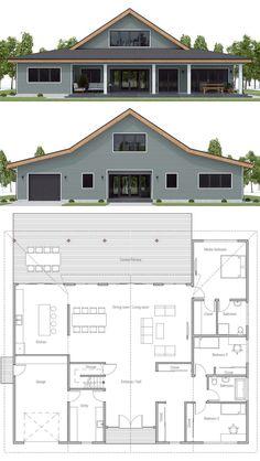 Floor plan ideas, Home Plan, Farmhouse Plans Barn Homes Floor Plans, Metal House Plans, Pole Barn House Plans, Pole Barn Homes, New House Plans, Dream House Plans, Small House Plans, House Floor Plans, Barn Home Plans