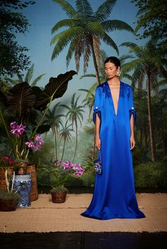 Jewelry designer, and creator of the ubiquitous Les Bonbons earrings, Rebecca de Ravenel has officially entered the world of ready to wear. Her playful and chic island aesthetic has been translated into a collection of simple, yet luxurious, silk caftans, kimonos, and high waisted maxi skirts -