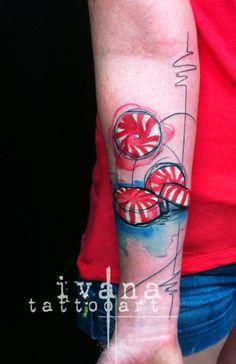 Mints Watercolor tattoo http://instagram.com/ivanatattooart