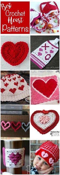 Love these free crochet heart patterns! |crochet365knittoo  #crochetheart #crochetvalentine