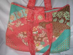 Coral Cloth Tote Bag by JDCreativeHands on Etsy, $35.00