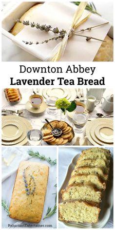 Downton Abbey Lavender Tea Bread, a moist tea loaf recipe for your next tea! via Downton Abbey Lavender Tea Bread, a moist tea loaf recipe for your next Lavender Tea Bread Recipe, Lavender Recipes, Loaf Recipes, Baking Recipes, Dessert Recipes, Tea Sandwich Recipes, Canapes Recipes, Picnic Recipes, Baking Desserts