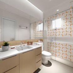 Banheiro comum - Projeto de Interiores Condomínio Vintage em Jundiaí - São Paulo.