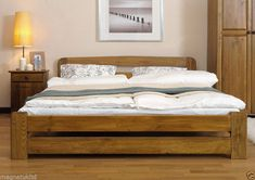 New Solid Pine Super King Size Bed Lidia Frame 6ft Option with Under Bed Drawer