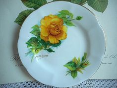 Roslyn England Side Plate  Vintage by silvermoonnostalgia on Etsy