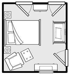 guest room/ nursery layout. something similar may work