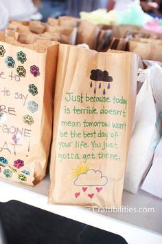 Because YOU matter bags - homeless care package - GIVING BACK - IDEAS on how to fill - Service project