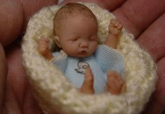 OOAK doll baby Owen Sweet Mini Ducky theme by Kimbra Conger Silver Dimples Nursery