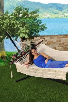 "48"" Island Rope Hammock - Canvas White by Bliss Hammocks on @nordstrom_rack"