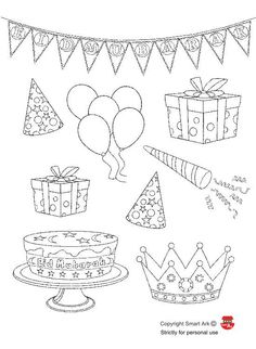 Coloring page. use them to make cards!