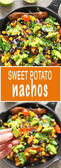 Healthy Sweet Potato Nachos - comfort food at its best!