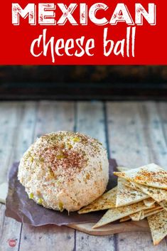 Mexican Cheese Ball with spicy tortilla chips! Perfect for Taco Tuesday or Tail… Mexican Cheese Ball with spicy tortilla chips! Perfect for Taco Tuesday or Tailgating! Cheese Appetizers, Yummy Appetizers, Appetizer Recipes, Snack Recipes, Cooking Recipes, Dinner Recipes, Mexican Appetizers, Dip Recipes, Potato Recipes