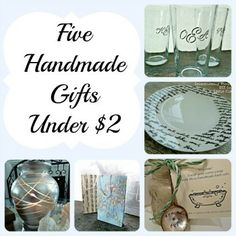 5 Handmade Gifts Under $2 Each! via Eclectically Vintage