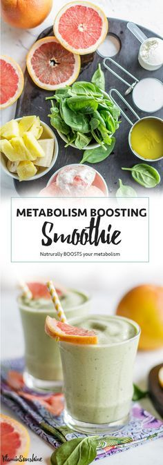 Slimming Metabolism Boosting Smoothie / This grapefruit smoothie recipe is packed with whole food ingredients known to have a positive effect on a healthy metabolism. A creamy and sweet concoction that makes a great meal replacement for weight loss. Healthy Detox, Healthy Smoothies, Healthy Drinks, Smoothie Recipes, Healthy Recipes, Green Smoothies, Vegan Detox, Ninja Recipes, Smoothie Ingredients