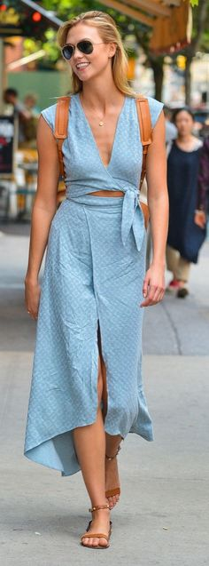 Karlie Kloss's Westlake dress is fresh and breezy. The perfect piece for summer.
