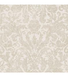 Damask wallpaper is synonymous with luxury and sophisticated style. A full but subtle damask pattern furnishes a polished look of a woven twill design for your walls in a pearly cream hue. Choose this traditional wallpaper to bring a timeless serenit Damask Wallpaper, White Wallpaper, Wall Wallpaper, Pattern Wallpaper, Wallpaper Ideas, Modern Wallpaper Designs, Brewster Wallpaper, Burke Decor, Traditional Wallpaper