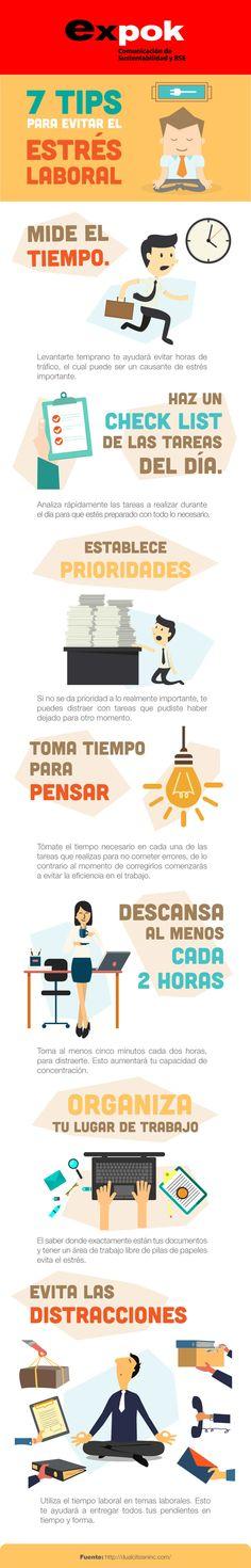 7 formas de evitar el estrés laboral. http://www.expoknews.com/7-formas-de-evitar-el-estres-laboral/
