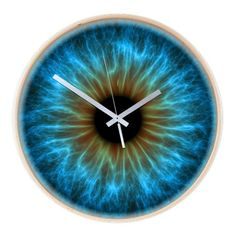Eye, iris Wooden Wall Clock