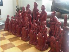 Gothic Horror Chess Set. Frankenstein's Monster, Jekyll & Hyde, Dracula, Werewolf Queen and Zombie pawns; oggtheclever on etsy