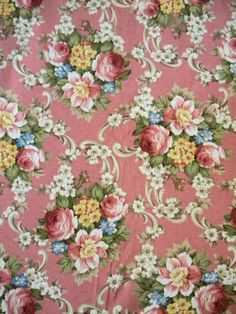 Sweetest Vintage Shabby Cotton Jersey Fabric Rose by RuinsCa, $59.00