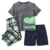 A comfy short-sleeve top and jersey woven bottoms are a great value set.  Change the bottoms for the style or the season!