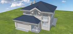 Projekt domu Willa diamentowa 134,49 m2 - koszt budowy 211 tys. zł - EXTRADOM Architectural House Plans, My House Plans, Home Fashion, Shed, Construction, Outdoor Structures, How To Plan, House Styles, Modern Houses