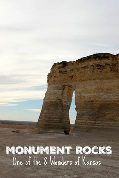 Monument Rocks- One of the 8 Wonders of Kansas- is located about 25 minutes from It's a great place to stop and stretch your legs while you're road tripping across Kansas. (Cool Places In Texas) Kansas Day, State Of Kansas, Colby Kansas, Hays Kansas, Topeka Kansas, Travel Oklahoma, Kansas Attractions, Roadside Attractions, Monuments