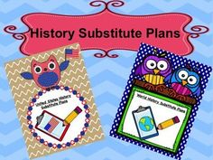 Do you have sub plans ready in case you can't make it into school? If not, do you spend more time planning for your sub then you would if you just went in and taught yourself? This product, bundled together for United States History and World History teachers, is a collection of substitute plans ready for use for a planned day off or to be used incase of an emergency when you don't have time to make plans.