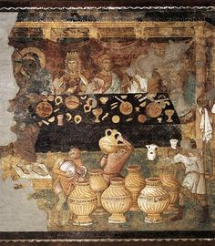 TORRITI, Jacopo The Marriage at Cana Fresco Upper Church, San Francesco, Assisi This scene was probably painted by an assistant of Torriti. Italian Paintings, European Paintings, Tempera, Fresco, Mosaic Maker, Isabella Of Castile, Santa Maria Maggiore, Miracles Of Jesus, Rome