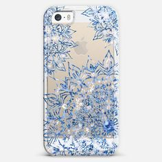 #iphone #case #transparent #blue