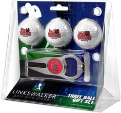 Arkansas State Red Wolves - 3 Ball Gift Pack with Hat Trick Divot Tool