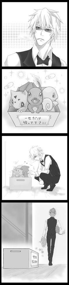 Tags: Anime, Pokémon, Durarara!!, Squirtle, Heiwajima Shizuo, charmander, bulbasaur ^^^ THIS. IS. PERFECTION!!!!!!!!