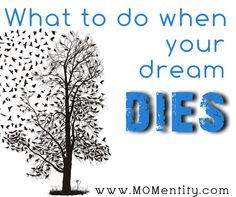 """We often hear """"dream big"""" or """"reach for the stars"""" but what do you do when a dream dies??"""