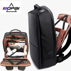 BOPAI Brand Men Laptop Backpack USB External Charge Computer Shoulders  Anti-theft Backpack 15 inch Waterproof Laptop Backpack Review 4112aa7037af0