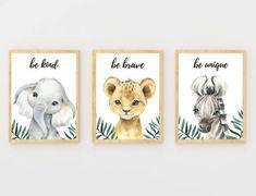 Safari Theme Nursery, Jungle Nursery, Animal Nursery, Nursery Prints, Nursery Decor, Watercolor Girl, Watercolor Animals, Floral Printables, Digital Print