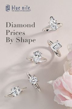 Did you know that choosing a fancy-shaped diamond can save you more than 25% versus a round diamond of similar shape and quality?  Blue Nile offers nine different styles of certified fancy-shaped diamonds ranging from princess-cut to cushion-cut and heart.  Learn more at bluenile.com